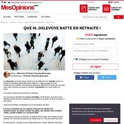 QUE M. DELEVOYE BATTE EN RETRAITE !