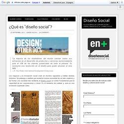 """¿Qué es """"diseño social""""?"""