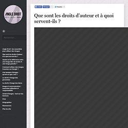 Que sont les droits d'auteur et à quoi servent-ils ?Angle Droit, les essentiels pour utiliser des images