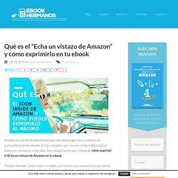 """Qué es el """"Echa un vistazo de Amazon"""" en tu ebook"""