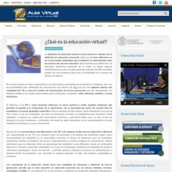 ¿Qué es la educación virtual? - Aula Virtual PUCV