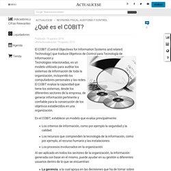 » ¿Qué es el COBIT?