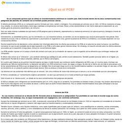 policloruro de bifenilo PBC (un veneno +)
