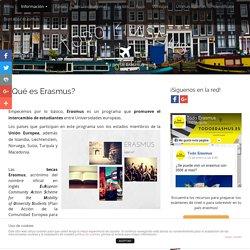 ¿Qué es Erasmus?