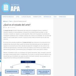 ¿Qué es el estado del arte?
