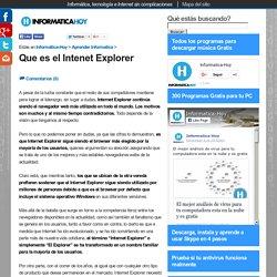 Que es el Intenet Explorer