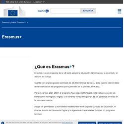 ¿Qué es Erasmus+?