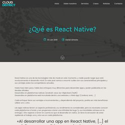 ¿Qué es React Native?