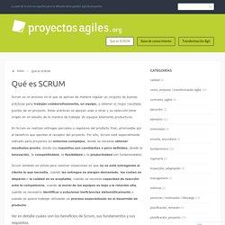 Qué es SCRUM – Proyectos Ágiles