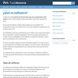 ¿Qué es software? - Toda Materia