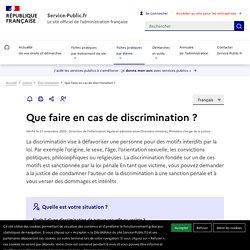 Que faire en cas de discrimination?