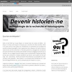 Que faire de Wikipédia ?