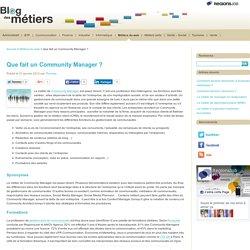 Que fait un Community Manager ?