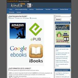 ¿Qué formatos lee Kindle?