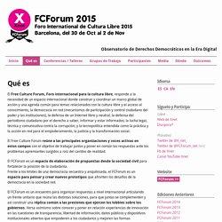 Free Culture Forum 2015