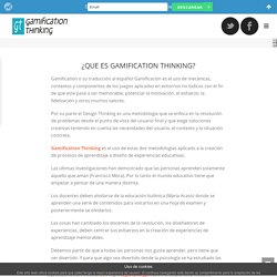 Qué es Gamification Thinking - Gamification Thinking