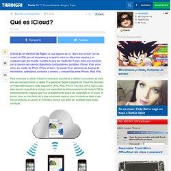 Qué es iCloud?