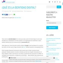 ¿Qué es la identidad digital?