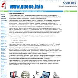Que es la informática - Definición de Informática