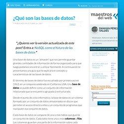 ¿Qué son las bases de datos?