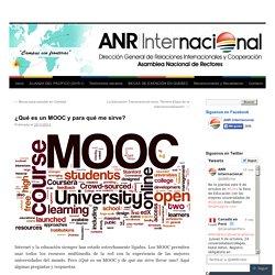 ¿Qué es un MOOC y para qué me sirve?