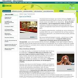 Qué es la ONCE — Web de la ONCE