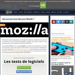 Que pouvez-vous faire pour Mozilla ?