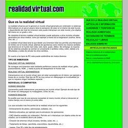 Que es la realidad virtual : Realidad Virtual.com
