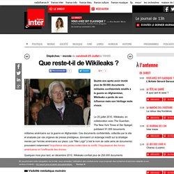Que reste-t-il de Wikileaks ?