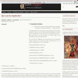 Que sont les Sephiroth ? « Les Sephiroth « Kabbale