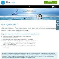 Que signifie SFA ?