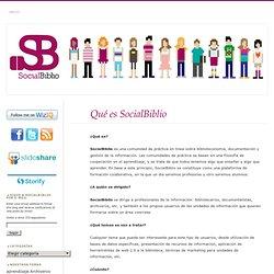 Qué es SocialBiblio «