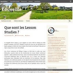 Que sont les Lesson Studies ?