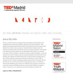 Qué es TED y TEDx