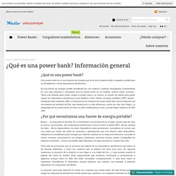 ¿Qué es una power bank?