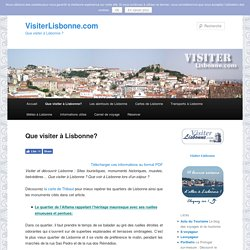 Que visiter à Lisbonne?