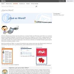 ¿Qué es Word?