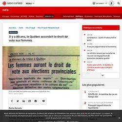 Il y a 80 ans, le Québec accordait le droit de vote aux femmes