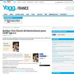 Québec: Une Charte de bientraitance pour LGBT âgé-e-s