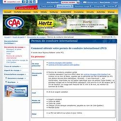CAA-Québec - Voyage - permis de conduire international