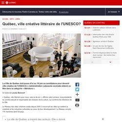 Québec, ville créative littéraire de l'UNESCO?