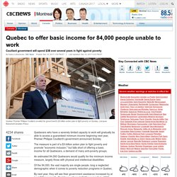 Quebec Offers Basic Income to 84,000 People Unable to Work