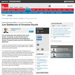 Les Québécois et l'évasion fiscale