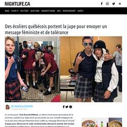 Des écoliers québécois portent la jupe pour envoyer un message féministe et de tolérance