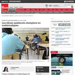 Les élèves québécois champions en mathématiques