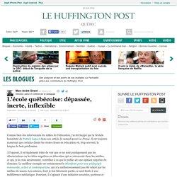 L'école québécoise: dépassée, inerte, inflexible