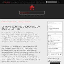 La grève étudiante québécoise de 2012 et la loi 78
