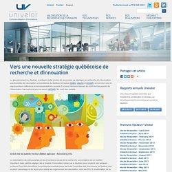 Vers une nouvelle stratégie québécoise de recherche et d'innovation