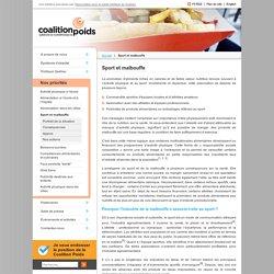 Sport et malbouffe - Coalition québécoise sur la problématique du poids