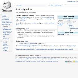 Lamas Quechua